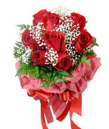 9 adet en kaliteli gülden kirmizi buket  Sinop çiçek yolla , çiçek gönder , çiçekçi