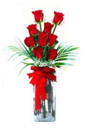 Sinop çiçek siparişi sitesi  9 adet mika yada cam vazoda gül tanzimi