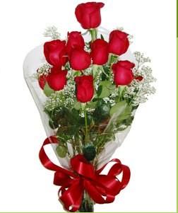 Sinop çiçek mağazası , çiçekçi adresleri  10 adet kırmızı gülden görsel buket