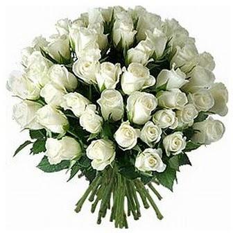 Sinop çiçek yolla , çiçek gönder , çiçekçi   33 adet beyaz gül buketi