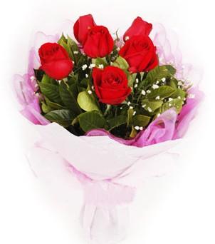 Sinop yurtiçi ve yurtdışı çiçek siparişi  kırmızı 6 adet gülden buket