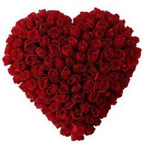 Sinop online çiçek gönderme sipariş  muhteşem kırmızı güllerden kalp çiçeği