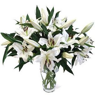 Sinop çiçek siparişi sitesi  3 dal görsel casablanca vazo tanzimi