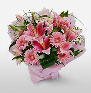 1 dal kazablanka ve kır çiçek görsel buketi  Sinop cicekciler , cicek siparisi