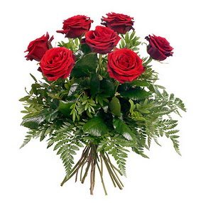 Sinop hediye sevgilime hediye çiçek  7 adet kırmızı gülden buket