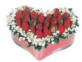 Sinop çiçek siparişi sitesi  mika kalpte kirmizi güller 9