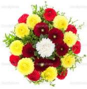 Sinop online çiçek gönderme sipariş  13 adet mevsim çiçeğinden görsel buket