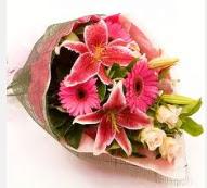 1 dal kazablanka ve mevsim çiçekleri  Sinop 14 şubat sevgililer günü çiçek