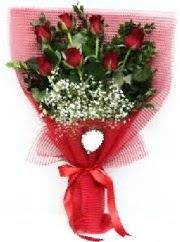 7 adet kırmızı gülden buket tanzimi  Sinop çiçek online çiçek siparişi