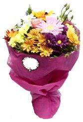 1 demet karışık görsel buket  Sinop güvenli kaliteli hızlı çiçek