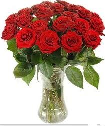Sinop İnternetten çiçek siparişi  Vazoda 15 adet kırmızı gül tanzimi