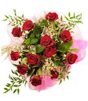 12 adet kırmızı gül buketi  Sinop kaliteli taze ve ucuz çiçekler
