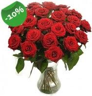Vazo içerisinde 25 adet kırmızı gül  Sinop çiçek online çiçek siparişi