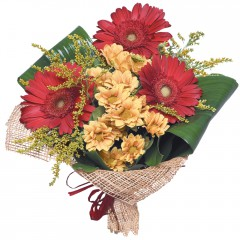 karışık mevsim buketi  Sinop online çiçek gönderme sipariş