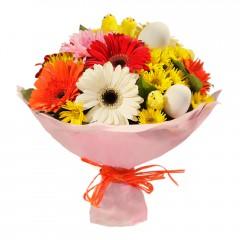 Karışık mevsim buketi Mevsimsel çiçek  Sinop 14 şubat sevgililer günü çiçek