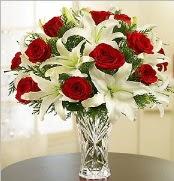 12 adet kırmızı gül 2 dal kazablanka vazosu  Sinop internetten çiçek satışı