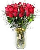 27 adet vazo içerisinde kırmızı gül  Sinop çiçek , çiçekçi , çiçekçilik