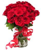 21 adet vazo içerisinde kırmızı gül  Sinop internetten çiçek satışı