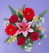 Sinop internetten çiçek siparişi  Gerbera gül ve lilyum buketi