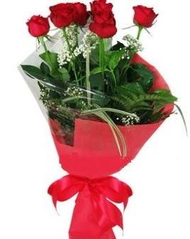 5 adet kırmızı gülden buket  Sinop çiçek gönderme sitemiz güvenlidir