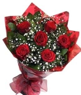 6 adet kırmızı gülden buket  Sinop çiçek gönderme