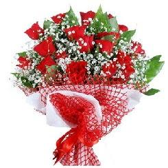 11 kırmızı gülden buket  Sinop kaliteli taze ve ucuz çiçekler