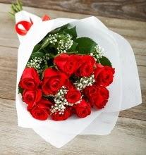 9 kırmızı gülden buket çiçeği  Sinop çiçekçi mağazası