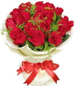 19 adet kırmızı gülden buket tanzimi  Sinop çiçek yolla , çiçek gönder , çiçekçi