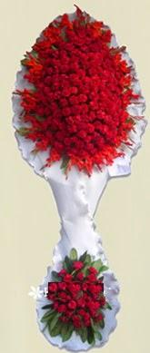 Çift katlı kıpkırmızı düğün açılış çiçeği  Sinop güvenli kaliteli hızlı çiçek