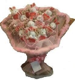12 adet tavşan buketi  Sinop İnternetten çiçek siparişi
