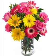 Vazoda Karışık mevsim çiçeği  Sinop online çiçek gönderme sipariş