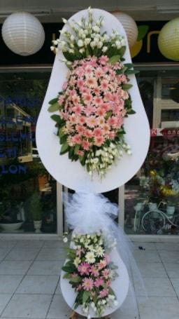 Çift katlı özel şahane sepet çiçeği  Sinop çiçek siparişi sitesi