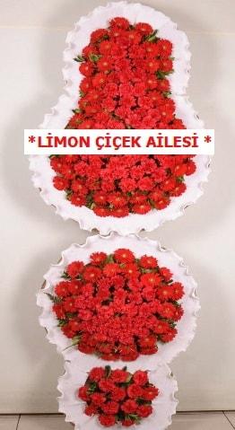 3 katlı kırmızı düğün açılış çiçeği  Sinop çiçekçi mağazası