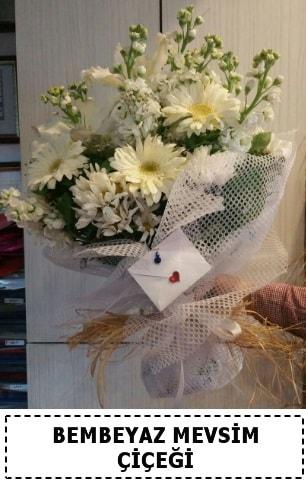 Bembeyaz görsel mevsim çiçek buketi  Sinop hediye çiçek yolla