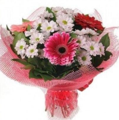 Gerbera ve kır çiçekleri buketi  Sinop 14 şubat sevgililer günü çiçek