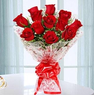 11 adet kırmızı gülden görsel şık buket  Sinop internetten çiçek siparişi