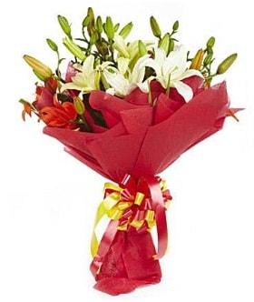 5 dal kazanlanka lilyum buketi  Sinop ucuz çiçek gönder