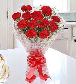 12 adet kırmızı karanfil buketi  Sinop çiçek , çiçekçi , çiçekçilik