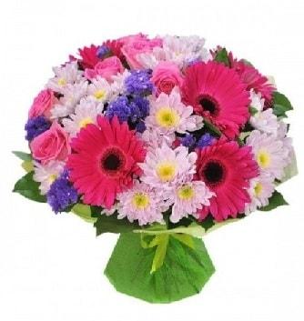 Karışık mevsim buketi mevsimsel buket  Sinop internetten çiçek satışı
