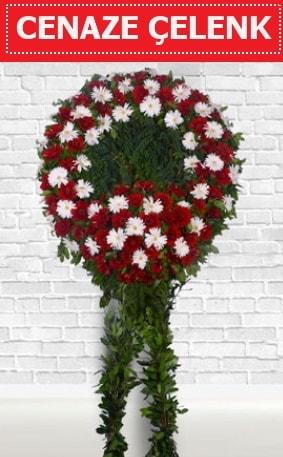 Kırmızı Beyaz Çelenk Cenaze çiçeği  Sinop çiçek , çiçekçi , çiçekçilik