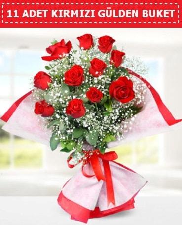 11 Adet Kırmızı Gül Buketi  Sinop 14 şubat sevgililer günü çiçek