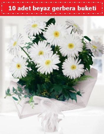 10 Adet beyaz gerbera buketi  Sinop çiçekçiler