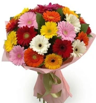 Karışık büyük boy gerbera çiçek buketi  Sinop internetten çiçek satışı